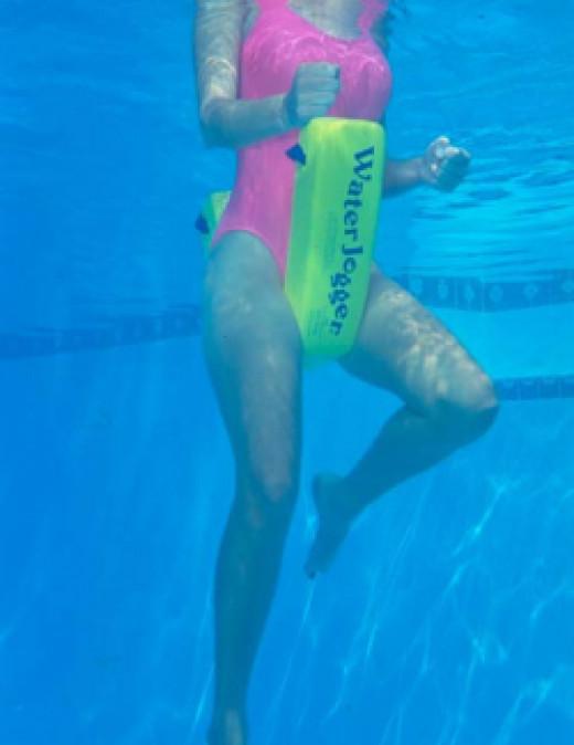 water aerobics water jogger