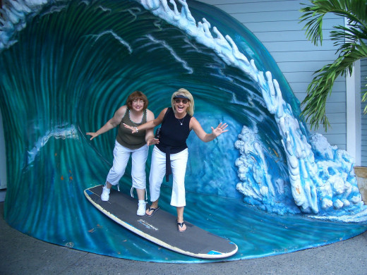 Lucy and I Catching a Wave on Our Way to Universal Studios for the Day!