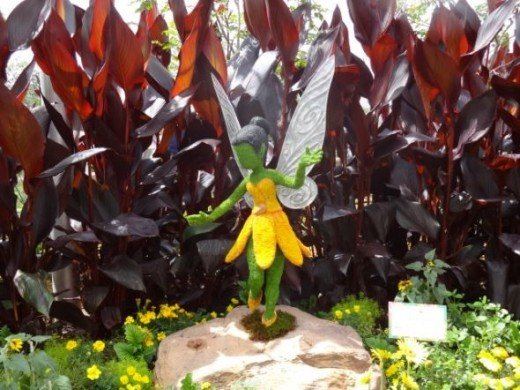 A Fairy Topiary at Epcot Flower & Garden Festival