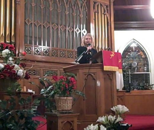 Preaching in Harrisburg, Pa