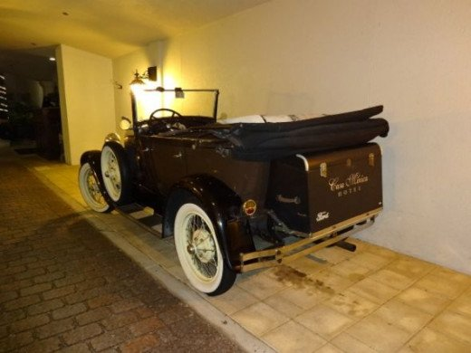 Casa Monica hotel vintage car - used for weddings and special occasions