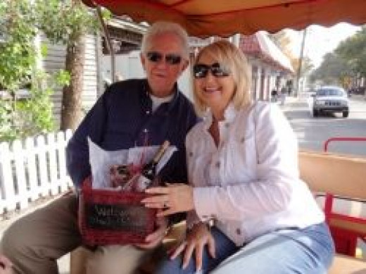 Our horse-drawn carriage ride for the Vittles and Vino Tour