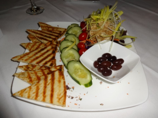 Our appetizer at the Cafe Alcazar!