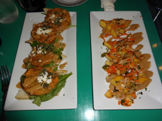 Innovative southern fare at The Floridian! (Fried green tomatoes & more!)