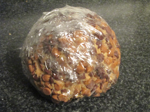 Wrap ball and place in freezer overnight.
