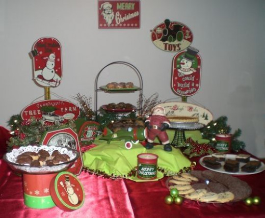 Retro Christmas - Dessert Buffet