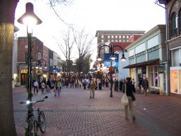 Charlottesville, a great town for walking and shopping.