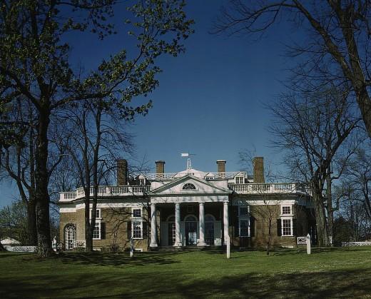 Monticello, home to Thomas Jefferson