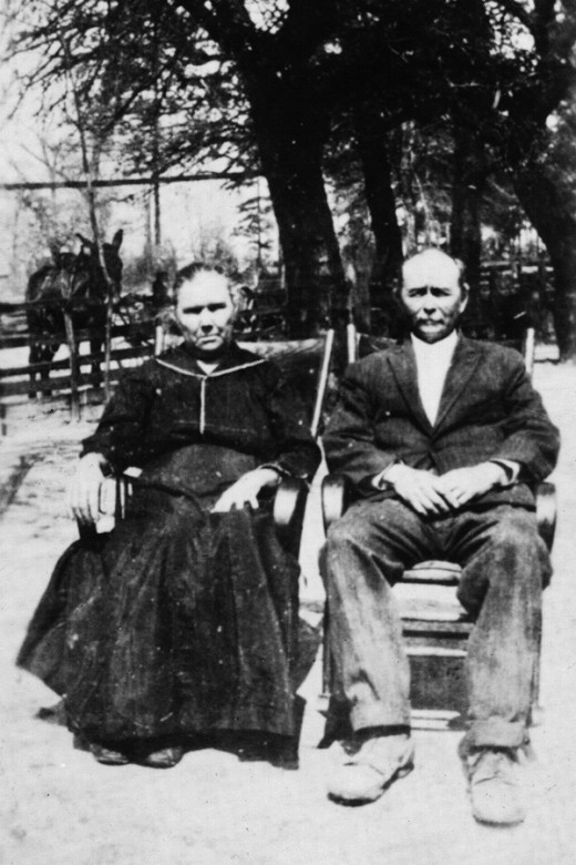 My great grandparents, Noah, and Sarah Jane Stafford.  Noah was born in the year 1855