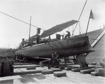 USS Winslow in Dry Dock