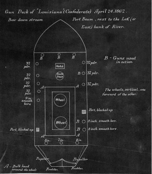 Blueprint of CSS Louisiana