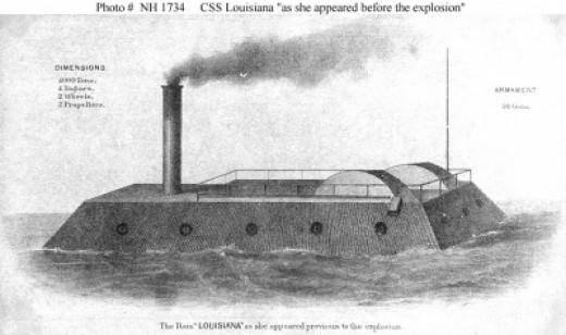 CSS Louisiana Civil War Ironclad