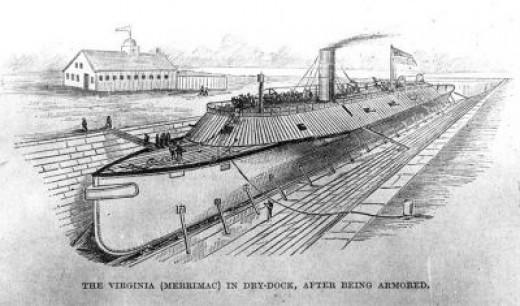 US Civil War Ironclad CSS Virginia