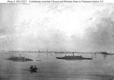 CSS Chicora and CSS Palmetto State in Charleston Harbor