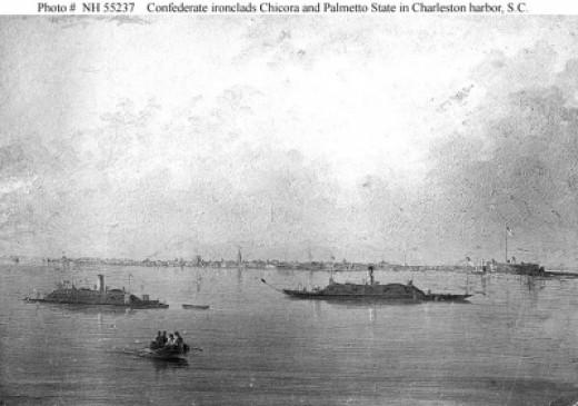 CSS Chicora and CSS Palmetto State in Charleston Harbor
