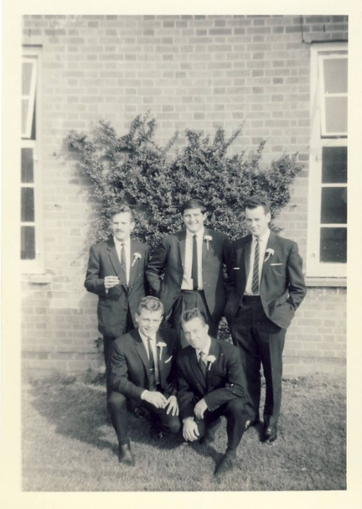 Jeff Jones, Bill Fisher, Colin Small, Austin Shiels, Nobby Clarke