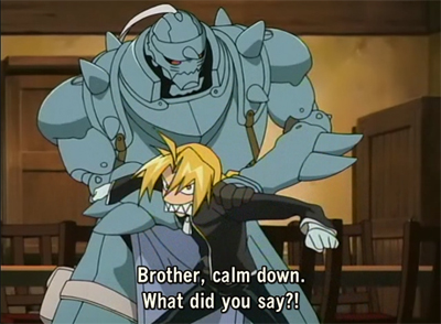 Alphonse restraining his brother, as usual ^^