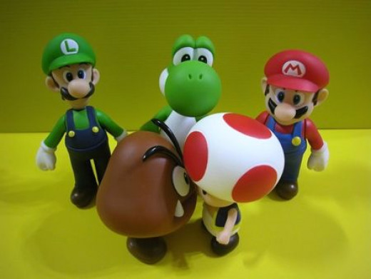 Mario Bros. Gumba & Toad can't see eye-to-eye