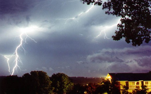 Light show near Middleton, WI