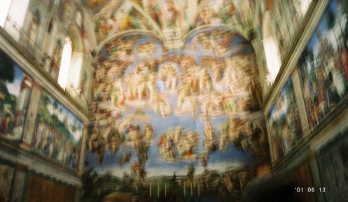 "Covering one wall, ""The Last Judgement"" (sorry it's not clearer...these are all ""illegal"" photos I snuck in)."