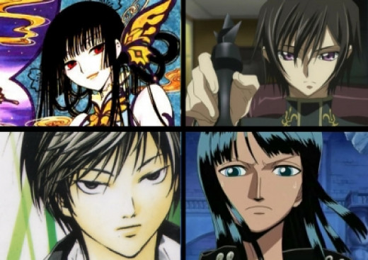Umi/lelouch lamperouge/Ogami Rei/Nico Robin
