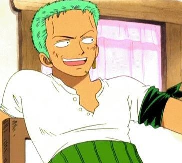 """You look great, just like a prince...of the Idiot Kingdom."" - Roronoa Zoro"