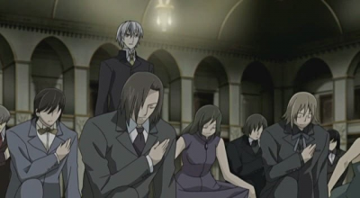 Noble vampires bowing before Kaname