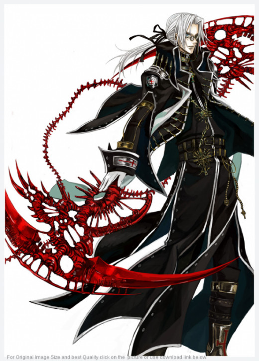 At 40% output and onwards, Abel can conjure up this wicked, multi-bladed blood scythe. It's called the blood scythe because it's made out of the Crusnik's very own crystallised blood. How's that for cool? The scythe sports a very intricate design tha
