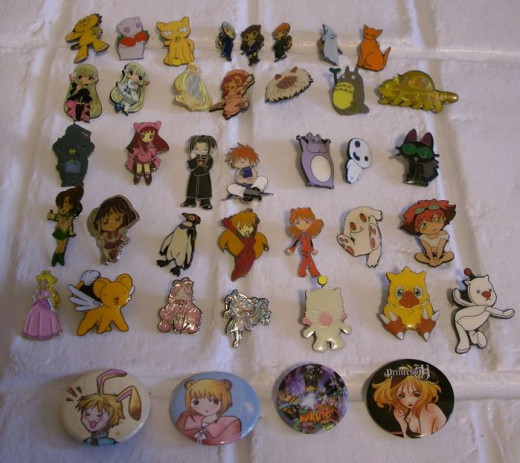 Pins Collection ~ Japanese Anime & Cartoons