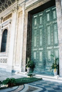 "The ""Holy Doors"" at St. John Lateran."