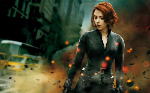 Josh spotted Natasha Romanov, aka the Black Widow on a nearby roof, most likely getting a damage assessment for Fury.