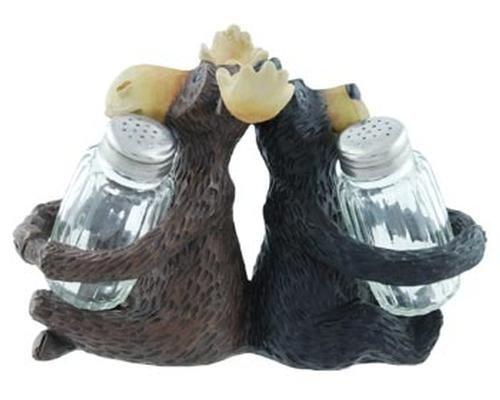 Moose Bear Salt & Pepper Shaker Set (two shakers) by Moose Bear Kitchen Decor