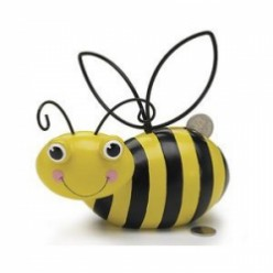 Bee and Beehive Coin Banks