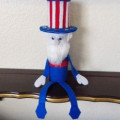 Uncle Sam: Paper Towel Roll Craft Project