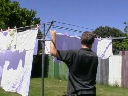 Hang washing out