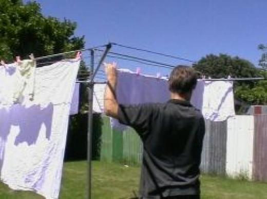 Hang washing out