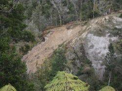 This is what happens, it slips down a valley. Photo Credit - Elsie Hagley.