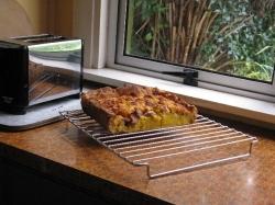 Home made bacon egg pie