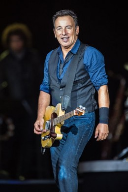 Bruce Springsteen performing at the Roskilde Festival 2012.