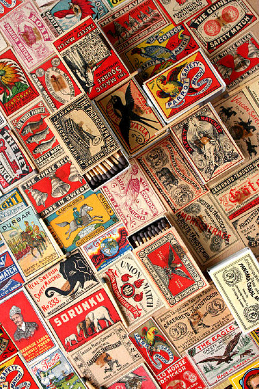 Vintage match covers