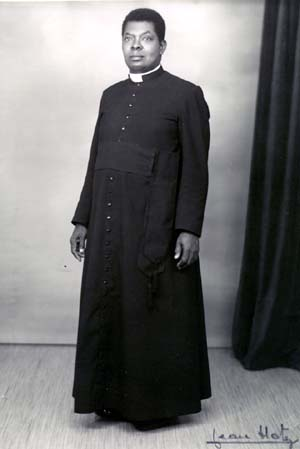 First Native Roman Catholic Parish Priest from the Belgian Congo, public domain in US, published before 1923
