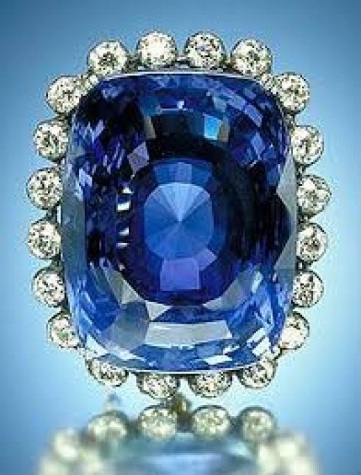 Logan Sapphire - the second largest blue sapphire from  Sri Lanka. (courtesy - http://en.wikipedia.org)