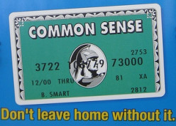 Does it seem that common sense is increasingly uncommon?