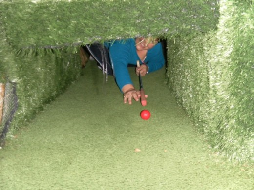 A club social night out - mini golfing (with a difference).