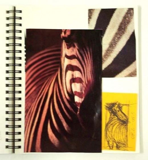 My Zebra Page From My Artist Journal