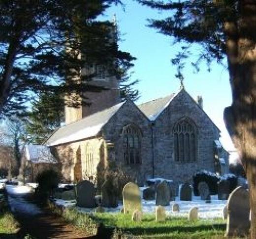 An English Country Churchyard in winter