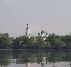 Tolga monastery on Volga river