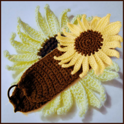 How to crochet a sunflower headband