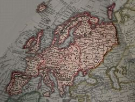 1836 map of Europe
