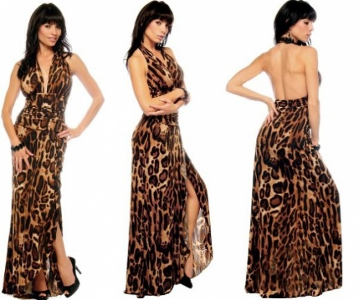 animal print-maxi dress-leopard print maxi dress- party dress